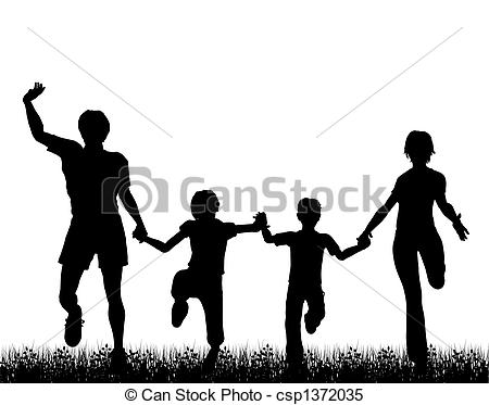 Fun Run Clip Art Family Fun   Csp1372035
