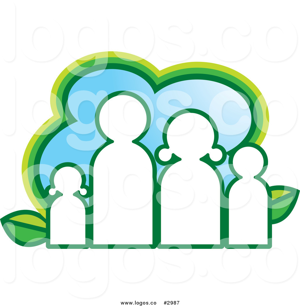 Royalty Free Vector Of An Eco Family And Leaves Logo By Lal Perera
