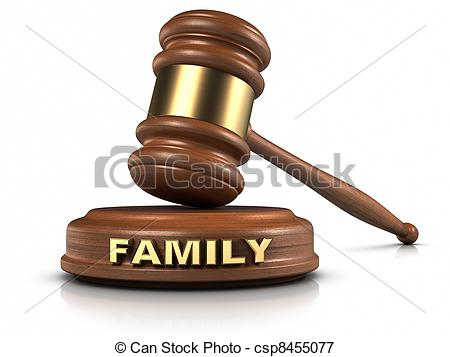 Stock Illustrations Of Family Law   Gavel And Family Word Writing On