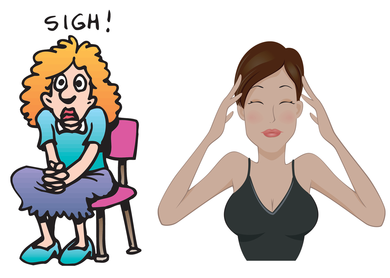 Anxiety Face Clipart -...