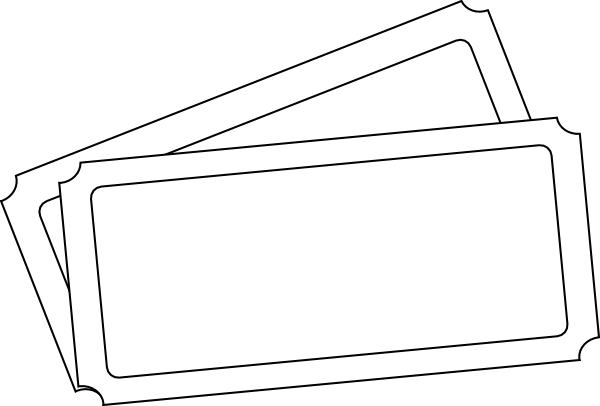 Blank Concert Ticket Clipart Clipart Kid – Printable Concert Ticket Template
