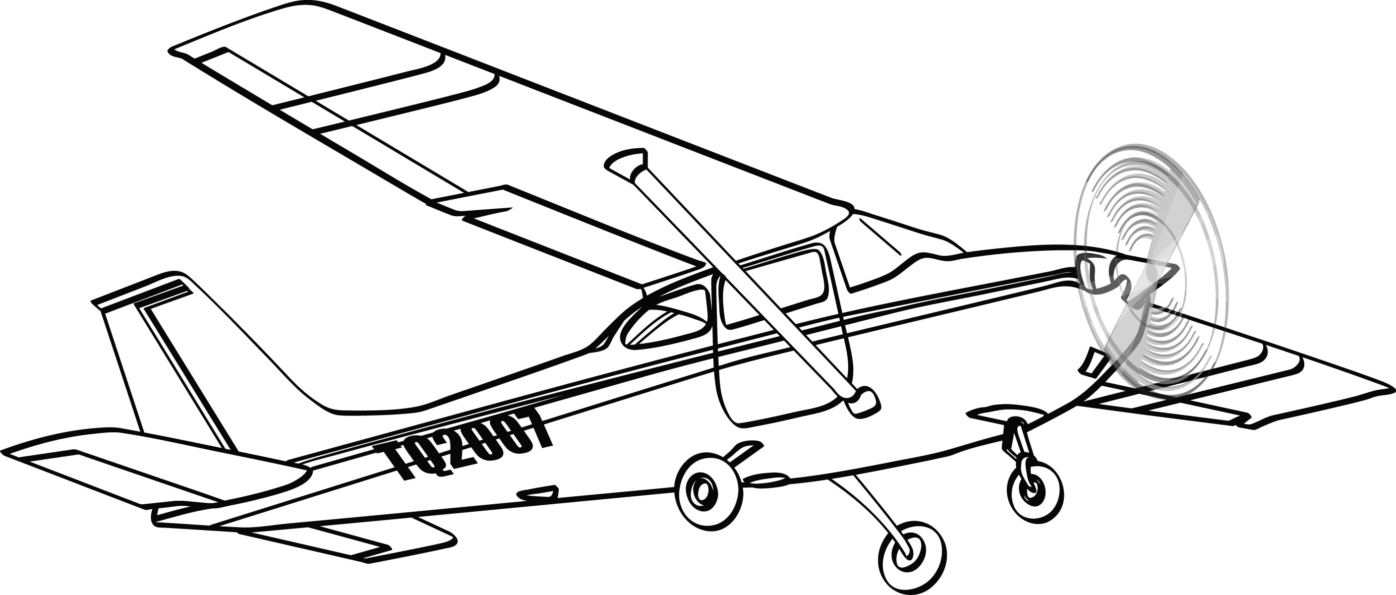 Line Drawing Airplane : Plane drawings clipart suggest