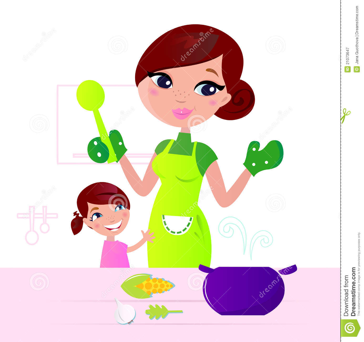 Mom Baking Clipart - Clipart Kid