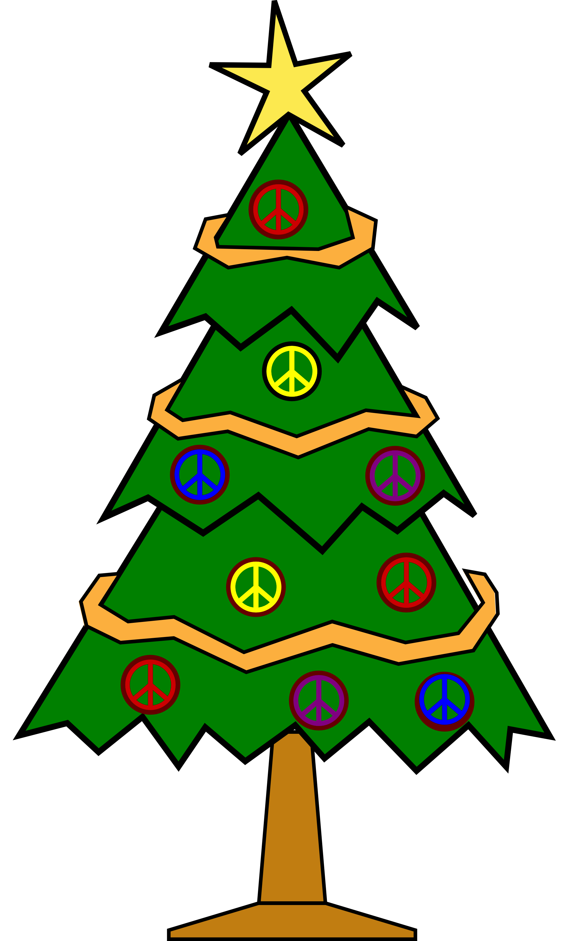 Xmas Christmas Tree 112 Peace Symbol       Clipart Best   Clipart Best