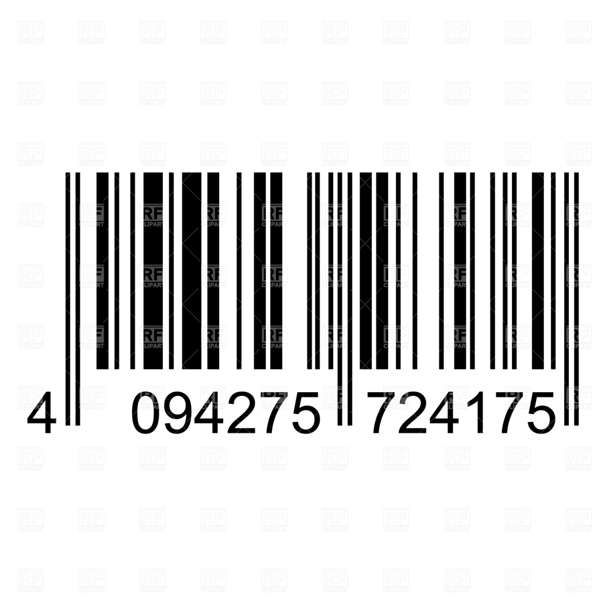 Bar Code 1320 Download Royalty Free Vector Clipart  Eps