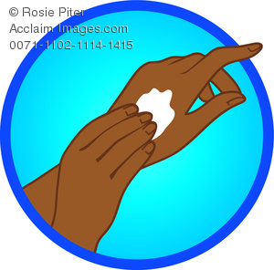 Black Woman Applying Hand Lotion Clipart Image   Acclaim Stock