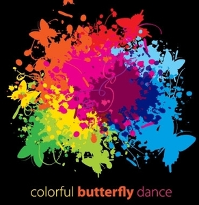 Colorful Butterfly Dance Clip Arts Free Clipart   Clipartlogo Com