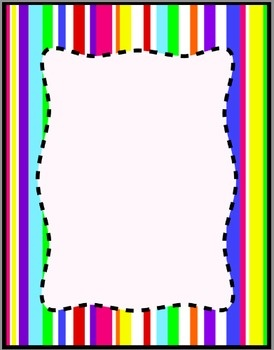 Colorful Stripes Frames Borders Background Clip Art   Digital Papers