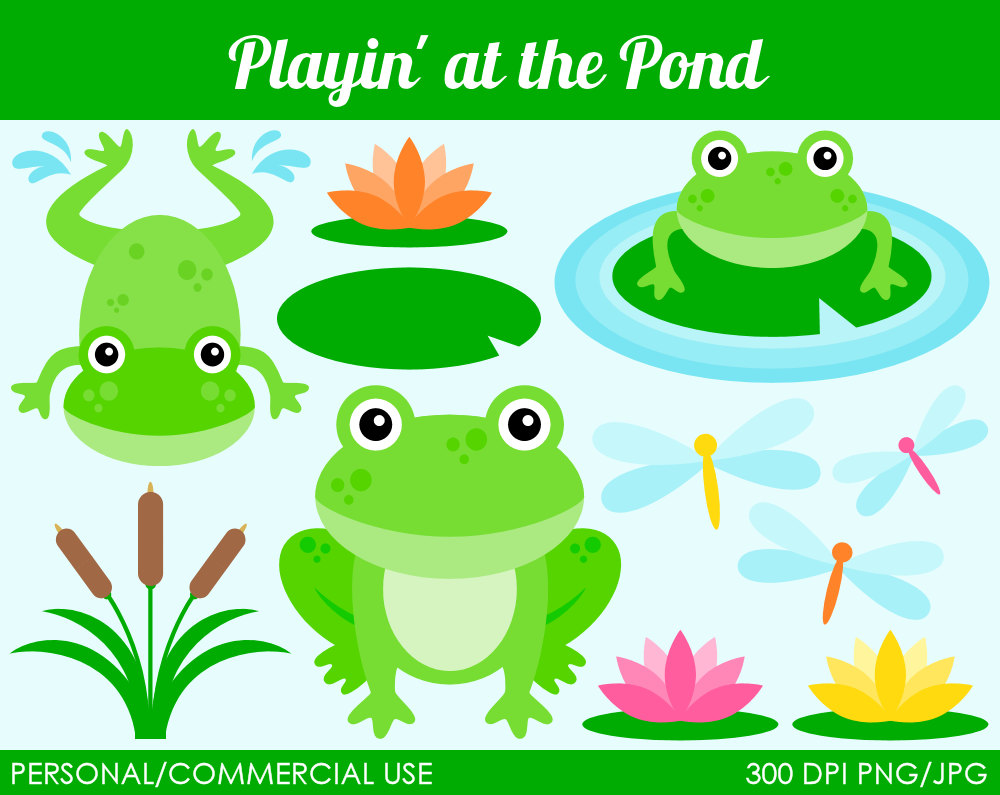 free clipart fish pond - photo #42