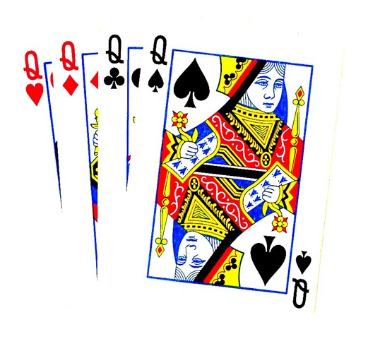Four Queens Boost Poker Clipart