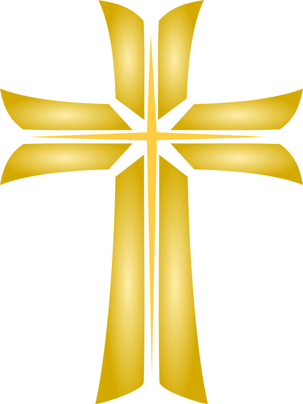 Golden Cross Christian Religious Symbol By Punith   Redbubble