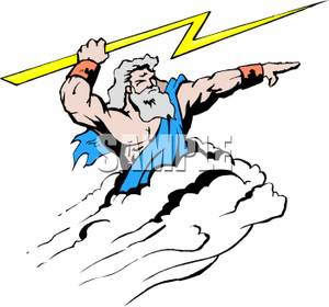 Mythology Clipart Zeus Aiming A Bolt Lightning 100413 154053 766009