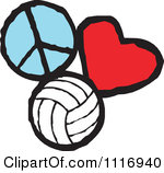 Peace Love Volleyball Graphics By Johnny Sajem