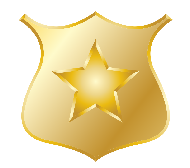 Police Badge Star Clip Art A Police Badge Clip Art