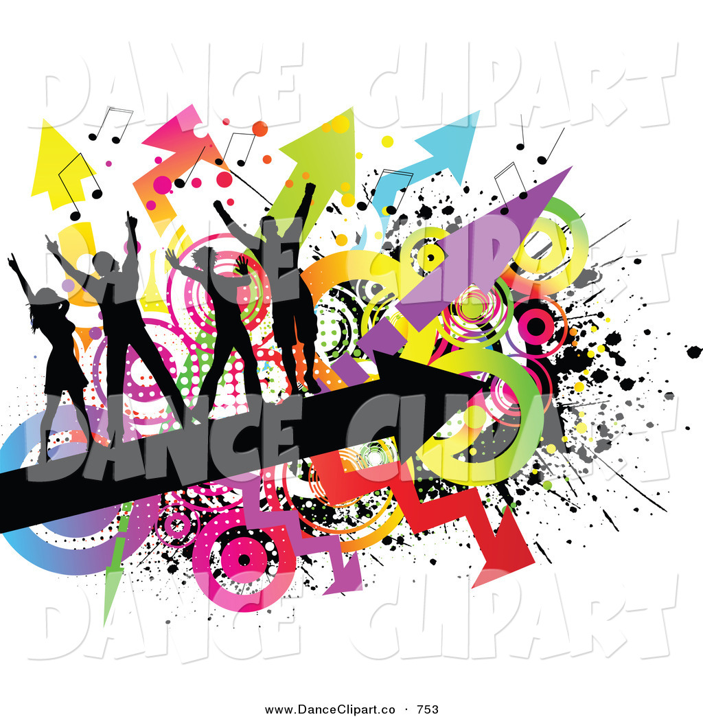 Royalty Free Colorful Stock Dance Clipart Illustrations