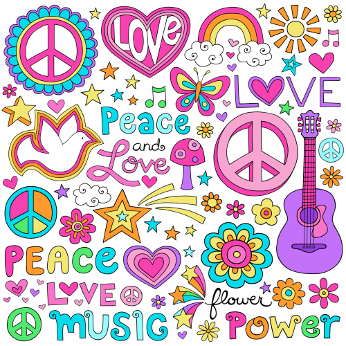 Scrapbook Clipart   Peace And Love Background   Kidspressmagazine