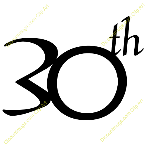 30th Anniversary Clipart - Clipart Suggest
