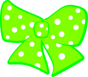 Bow With Polka Dots 2 Clip Art At Clker Com   Vector Clip Art Online