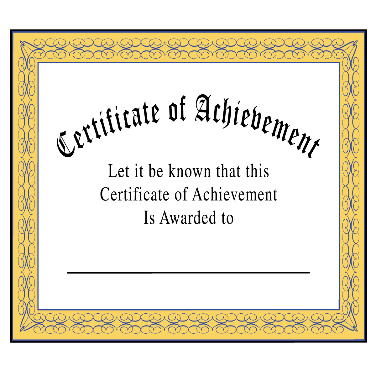 Certificate Of Achievement Clipart Clipart Kid – Certificate of Achievement for Kids
