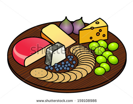 Cheese Platter With A Selection Of Cheeses Fruit And Crackers