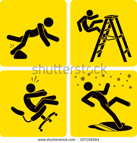 Clip Art Illustration Styled Like Universal Signs Showing A Stick
