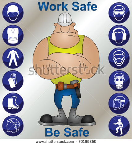 Construction Worker Wearing Personal Protection Equipment And Safety