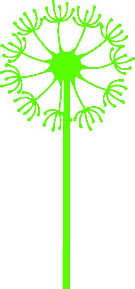 Dandelion Lime Green Clip Art At Clker Com   Vector Clip Art Online