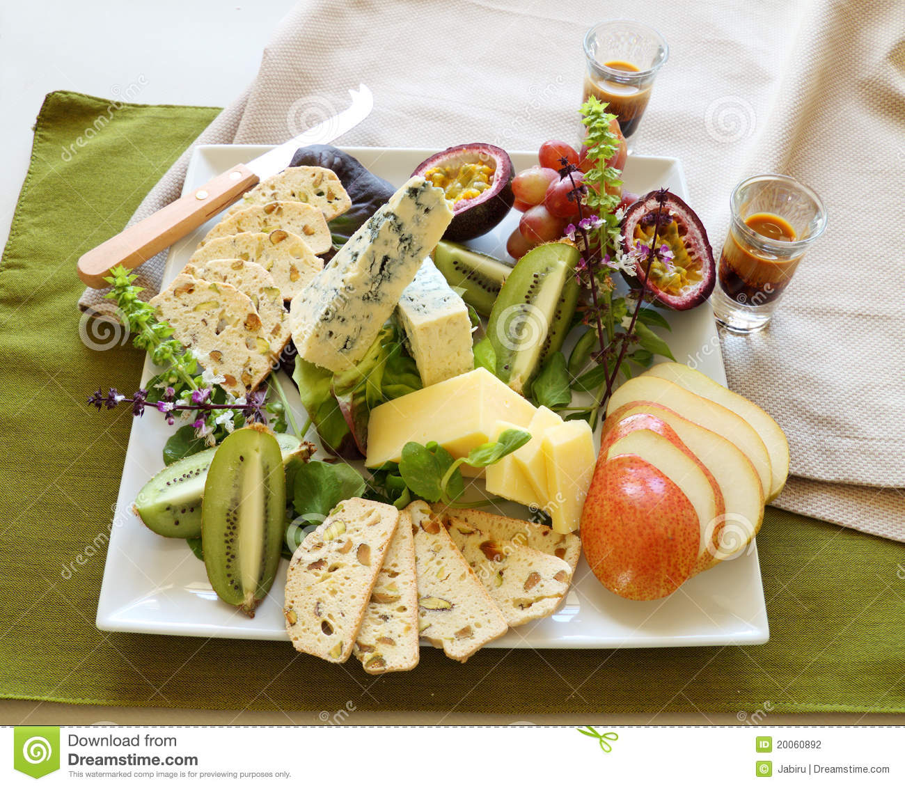 Delicious Fruit And Cheese Platter Featuring A Variety Of Different