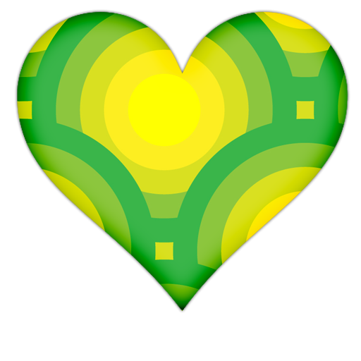 Green Heart Clipart Heart With Green Circles Icon