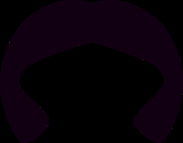 Hair Wig Silhouette   Vector Clip Art