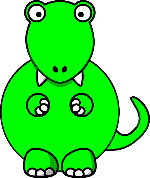 Lime Green Baby Dino Clip Art