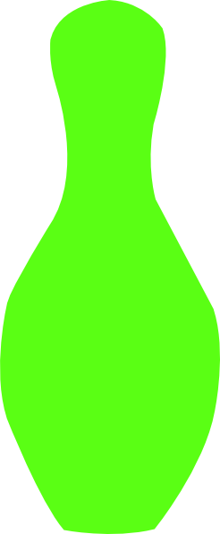 Lime Green Bowling Pin Clip Art At Clker Com   Vector Clip Art Online