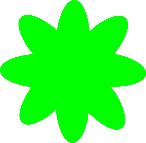 Lime Green Flower Clipart Lime Green Flower Clip Art