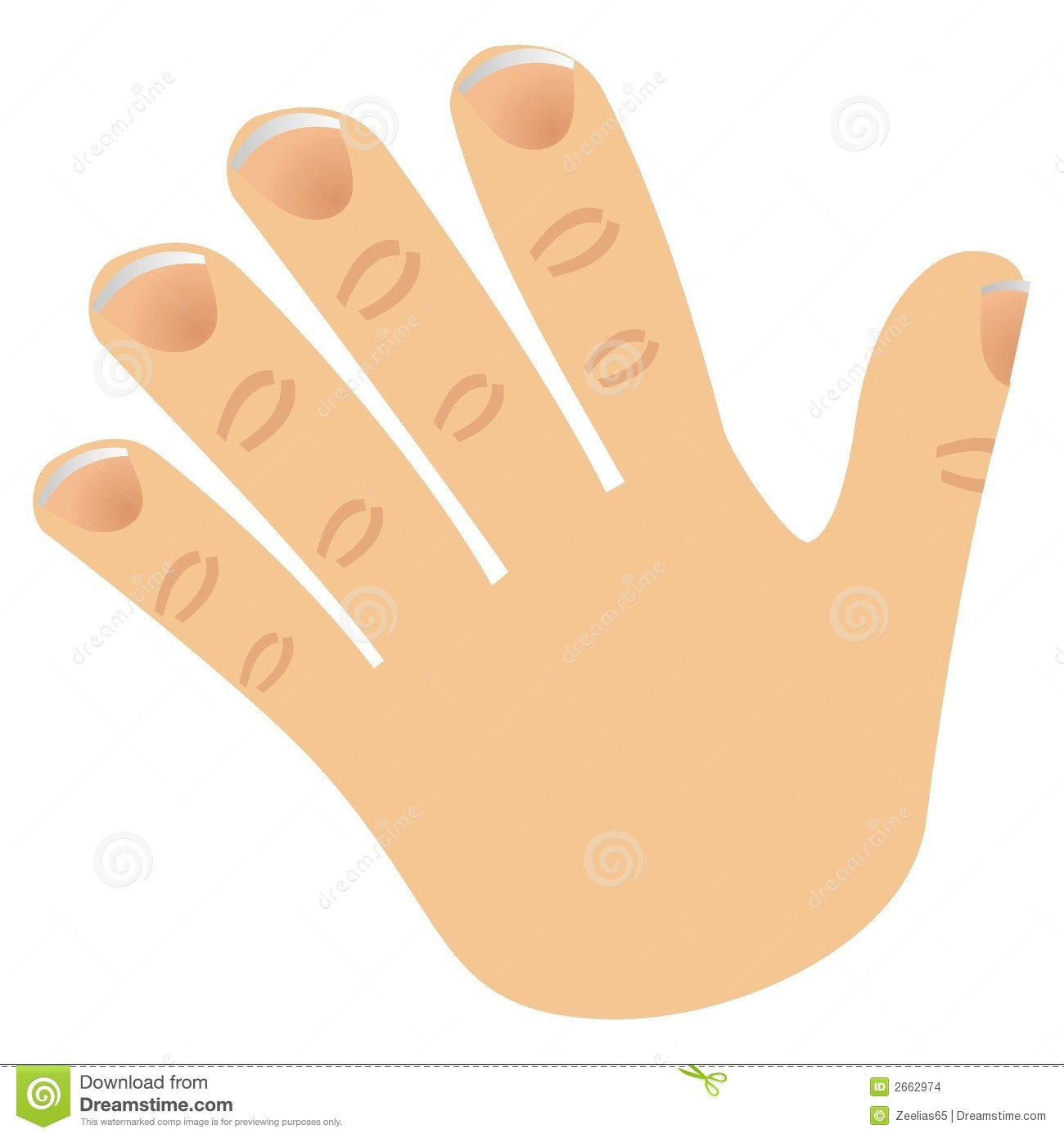 Number Five Made With Fingers Stock Images   Image  2662974