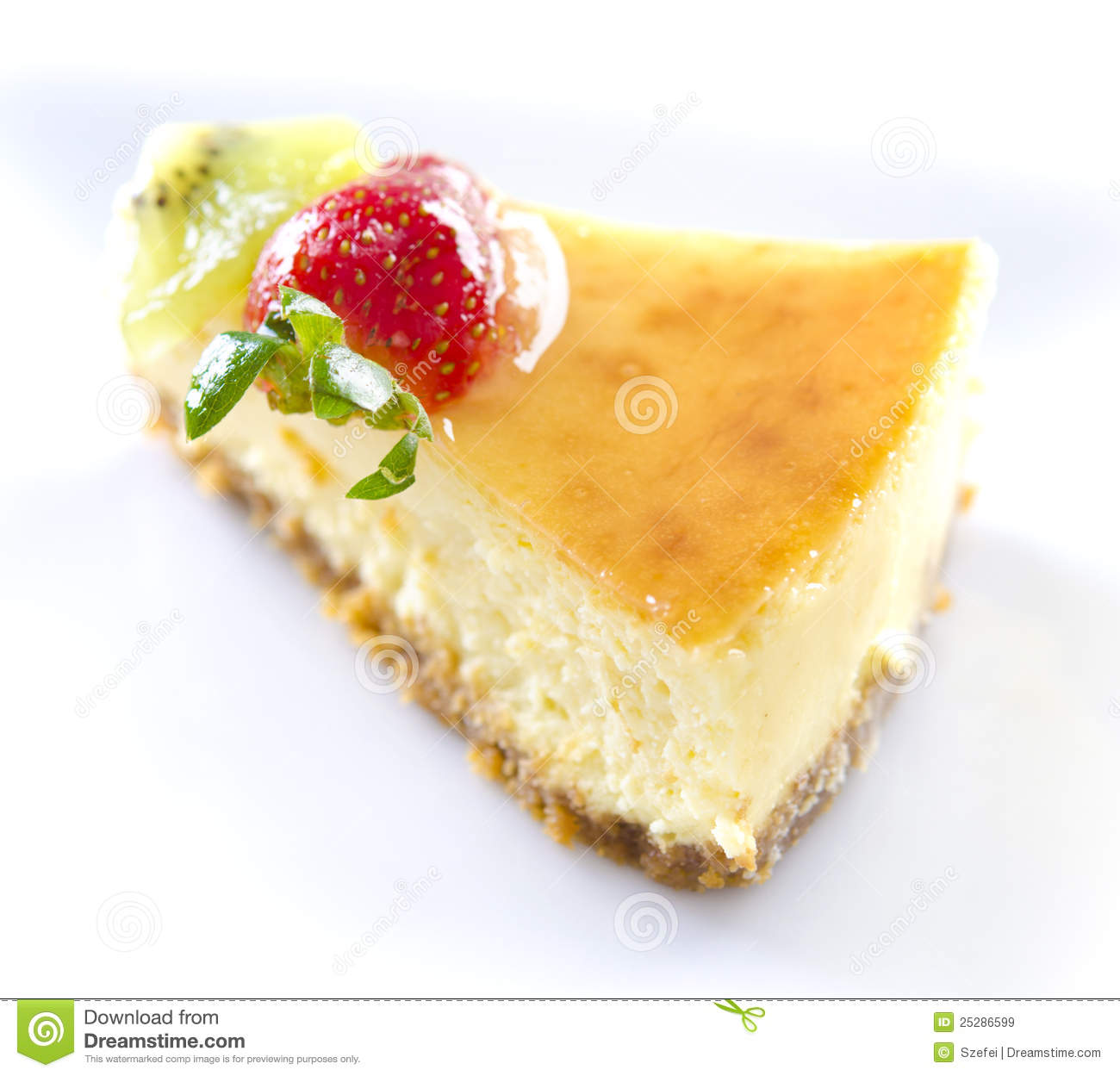 Passion Fruit Cheese Cake Slice Royalty Free Stock Images   Image