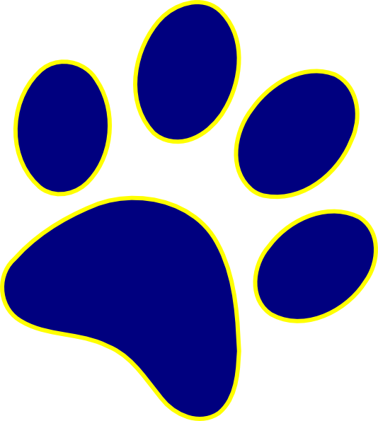 panther paw border clipart clipart suggest Wolverine Paw Print Clip Art Paw Print Clip Art Yellow
