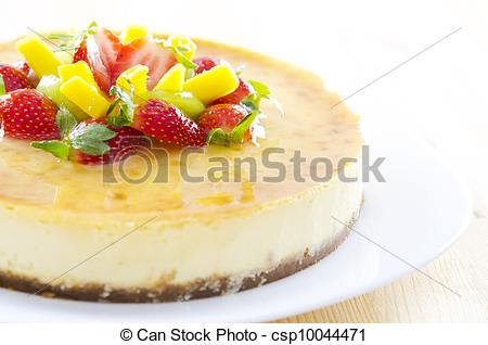 Picture Of Passion Fruit Cheese Cake   Freshly Homemade Passion Fruit