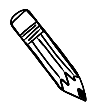 Pencil Outline Clipart - Clipart Kid