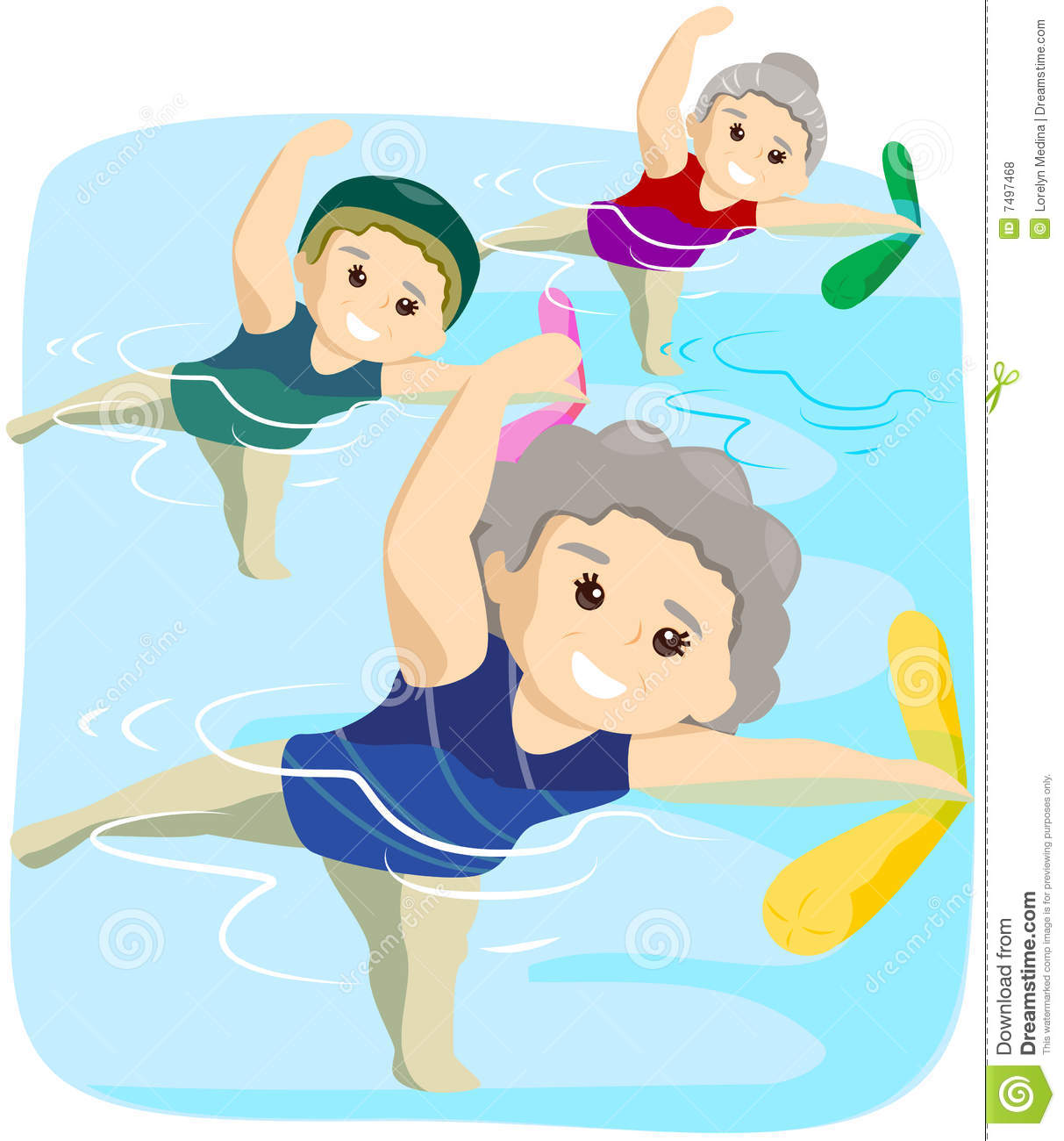 Royalty Free Stock Photos  Water Exercise  Image  7497468