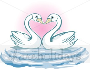Swans In Love Clipart