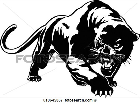 Animal Panther Cougar Puma Mountain View Large Clip Art Graphic