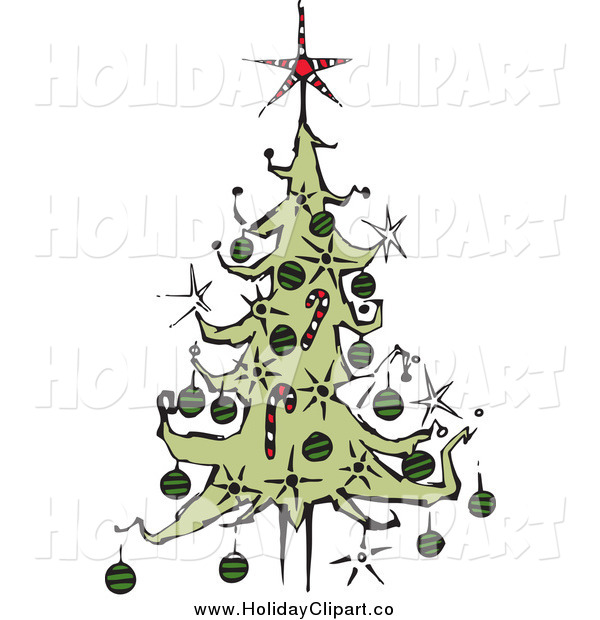 Art Of A Christmas Tree With A Star Topper By Steve Klinkel    34647