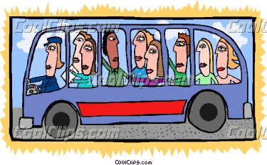 Bus Full Of People Vector Clip Art