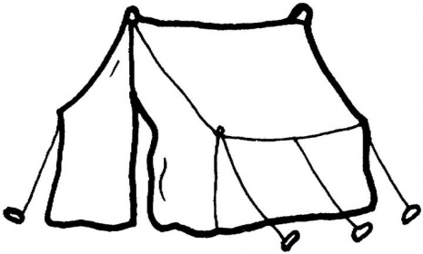 Camping Tent Clipart Black And White Camping Tent Clipart Black And