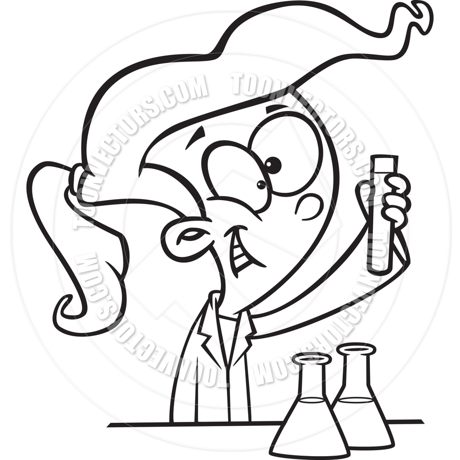 Chemist Tools Black White Clipart - Clipart Suggest
