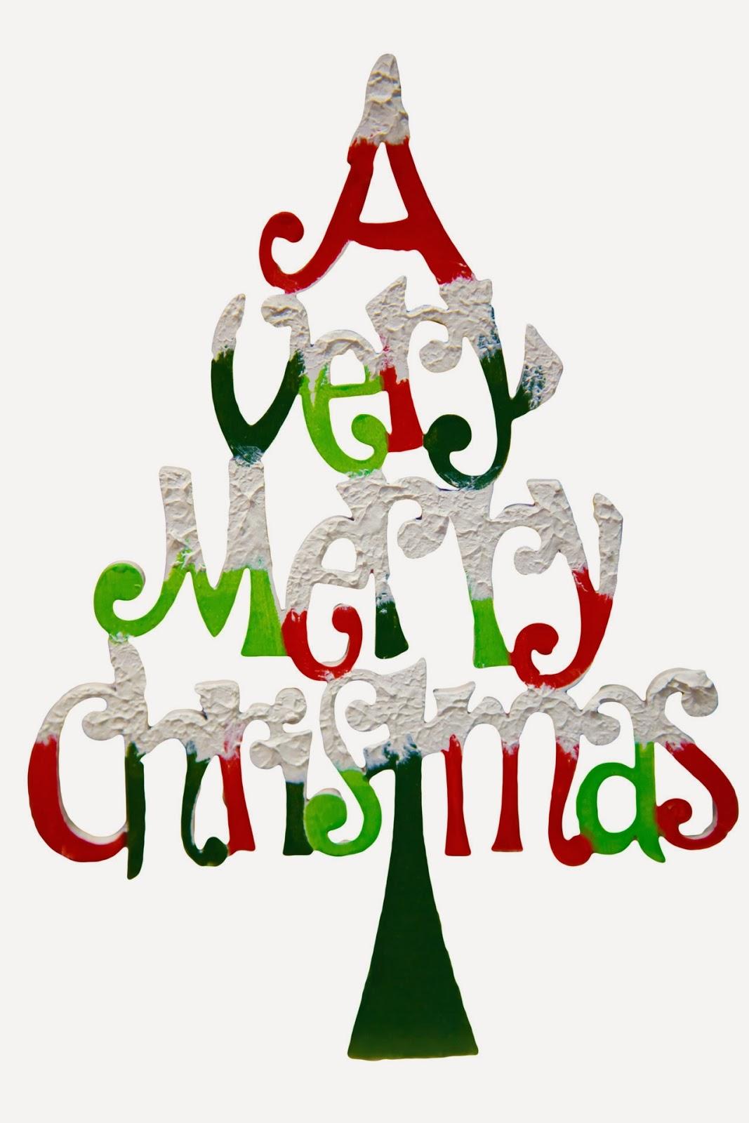 Modern christmas word clipart clipart suggest Modern christmas