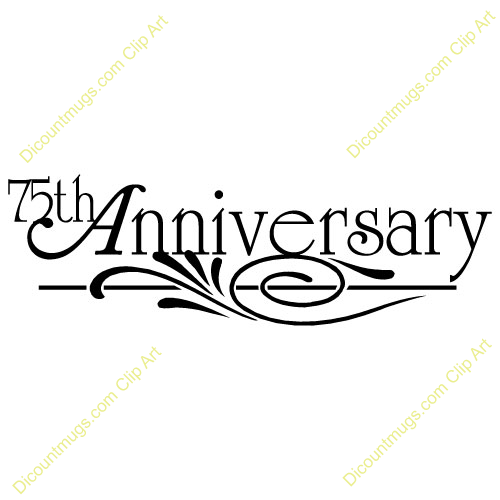 Church Anniversary Clip Art 75th Anniversary Design