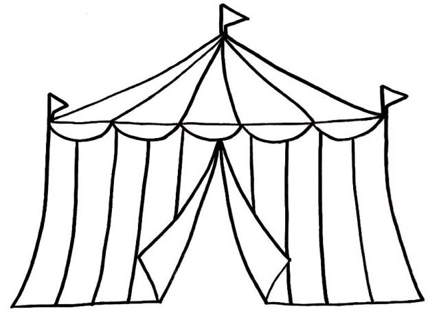 Circus Tent Clipart Black And White   Clipart Panda   Free Clipart
