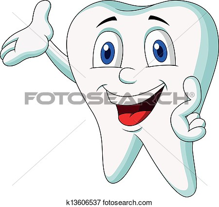Clip Art   Cute Tooth Cartoon Presenting  Fotosearch   Search Clipart