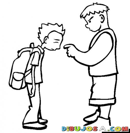 ... Dibujos Varios Dibujo De Bullying Para Pintar Y Colorear - Clipart Kid